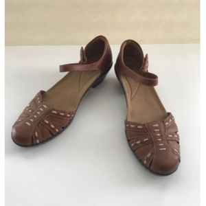 Clarks Wendy Land Ankle Strap Shoes